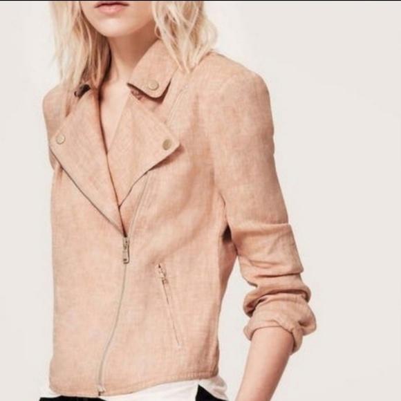 Lou & Grey Jackets & Blazers - NWT Lou & Grey Linen Moto Jacket